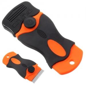 Скребок пластиковый (черно-оранжевый). Держатель для лезвий