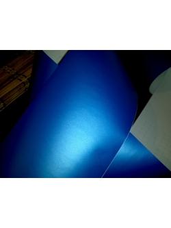 Матовая пленка Синяя Перламутр