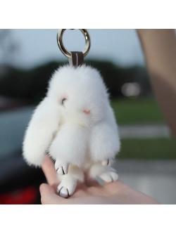 Брелок Кролик, заяц (мех)