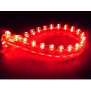 Лента светодиодная 24см Красная