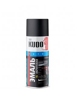 Эмаль универсальная черная матовая 520мл Kudo