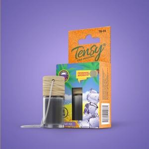 Ароматизатор Tensy  (бутылочка с деревян.крышкой) Черный лед