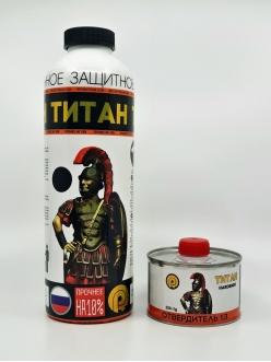 Сверхпрочное ПУ покрытие Титан (черный) + отвердитель