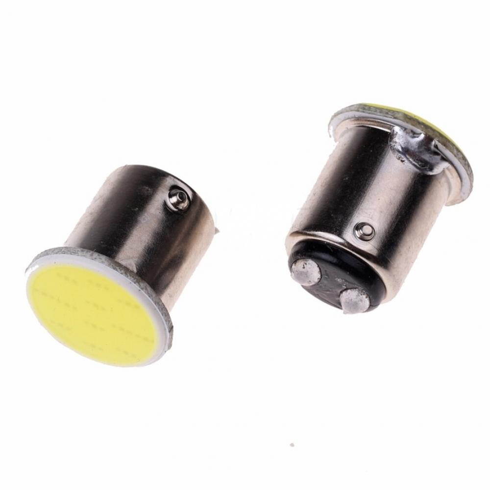 Лампа светодиодная (2 конт) 5w, сплошная заливка, белая BAY15d