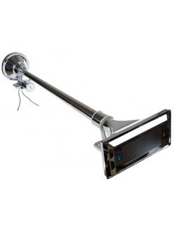 Звуковой сигнал 1-рожковый воздуш.с крышкой 64см, 1224v (металл,хром, с клапаном)