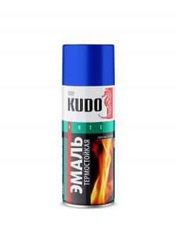 Эмаль термостойкая красная 520мл Kudo