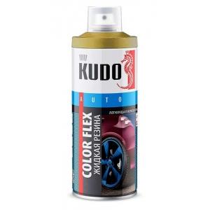 Золотистая матовая резина KUDO, Баллончик 520мл