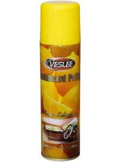 Очиститель-полироль с силиконом для пластика, кожи и резины Лимон, 220мл