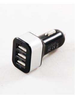 Зарядное телефона  3 USB, 1000mA/2000mA/2100mA, черный, KS-109B
