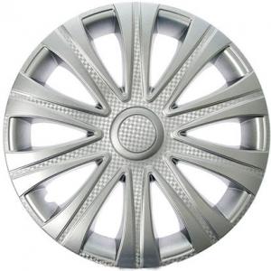 Колпаки колесные 14' Майбах, серебристый, карбон  4шт