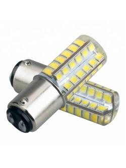Лампа светодиодная (2 конт) 48SMD силикон BAY15d