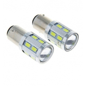 Лампа светодиодная (2 конт) 12 диодов + линза