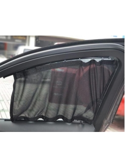 Шторки в салон авто с пластик.направляющими 55х55см