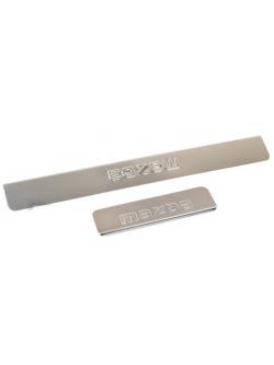 Накладки внутренних порогов MAZDA 3 (<-2013), 6 (<-2013), 5 (нерж. сталь) (к-т 4 шт.)