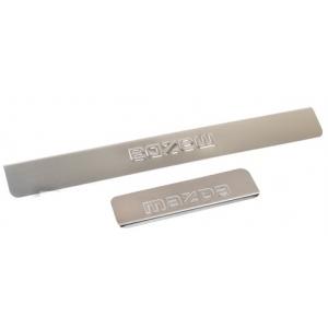 Накладки внутренних порогов MAZDA CX-5 (<-2017), штамп CX-5 (нерж. сталь) (к-т 4 шт.)