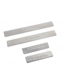 Накладки внутренних порогов TOYOTA RAV-4 (<-2013) (нерж. сталь) (к-т 4 шт.)