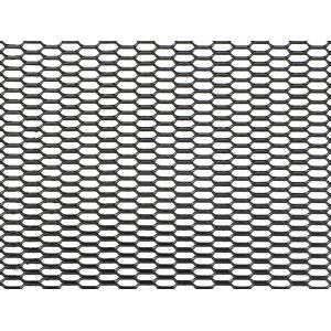Облицовка радиатора (сетка декоративная) алюминий, 100 х 20 см, черная, ячейки 20мм х 6мм 'сота'