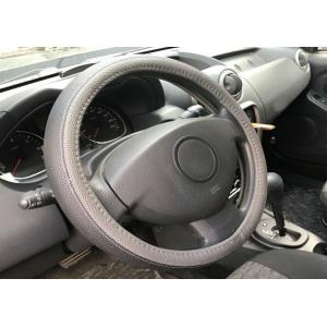 Оплетка на руль кожа, серый, р-р 37-38см QSX-2017