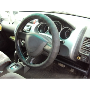 Оплетка на руль кожа, черный, р-р 37-38см QSX-17601