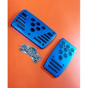 Накладки на педали автомат, синие с черной вставкой 392 Автоцентр