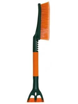 Щетка для снега со скребком оранжевая 61см
