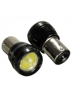 Лампа светодиодная (1 конт), линза, BA15s
