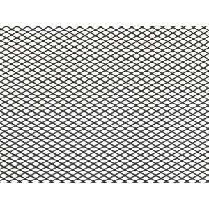 Облицовка радиатора (сетка декоративная) алюминий, 100 х 20 см, черная, ячейки 10мм х 5,5мм