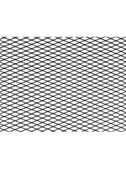 Облицовка радиатора (сетка декоративная) алюминий, 100 х 20 см, черная, ячейки 16мм х 6мм