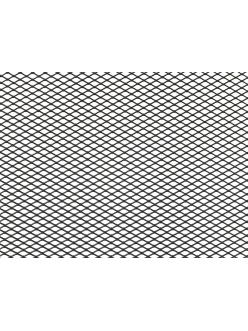 Облицовка радиатора (сетка декоративная) алюминий, 100 х 30 см, черная, ячейки 10мм х 5,5мм
