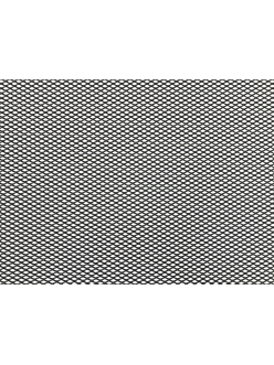 Облицовка радиатора (сетка декоративная) алюминий, 100 х 30 см, черная, ячейки 6мм х 3,5мм