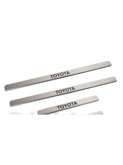 Накладки внутренних порогов TOYOTA Hilux (нерж. сталь) (к-т 4 шт.)