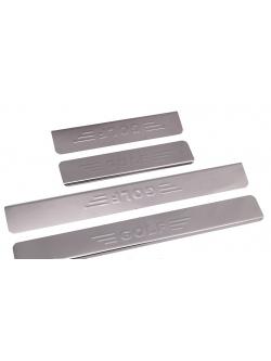 Накладки внутренних порогов VW Golf штамп GOLF (нерж. сталь) (к-т 4 шт.)