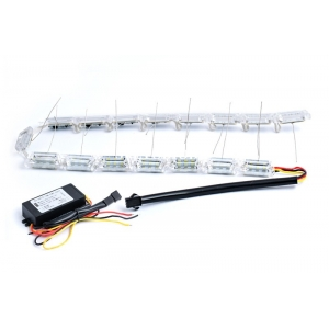 Гибкие ходовые огни с повторителем поворота 2x16 модулей с креплением