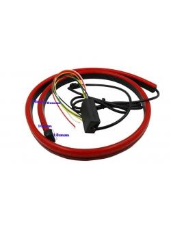 Светодиод. красная полоса под стекло/багажник,с функц .повтор. фонарей, динамический стример 105см