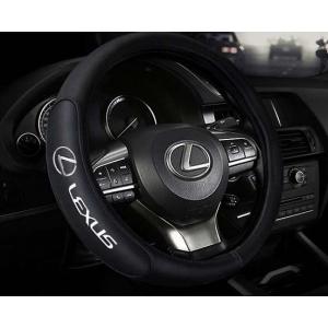 Оплетка на руль с логотипом Lexus, кожа, черный, р-р 37-38см HT-LE07 M