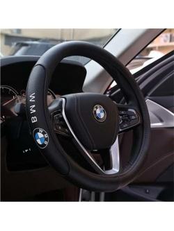 Оплетка на руль с логотипом BMW, кожа, черный, р-р 37-38см HT-BM05 M