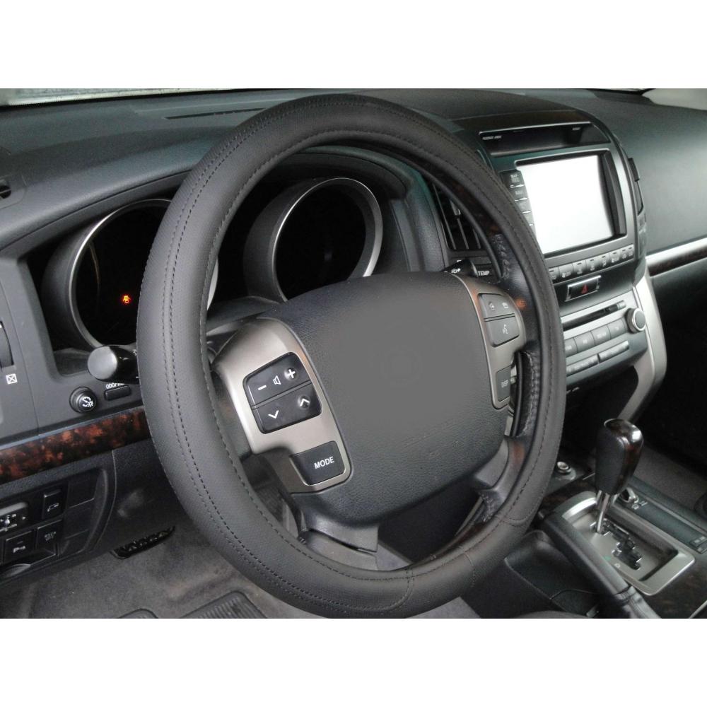 Оплетка на руль кожа, черный, р-р 39-40см QSX-2019