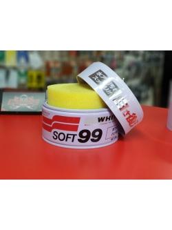 Полироль кузова защитный для светлых авто Soft99 Soft Wax, 350гр.