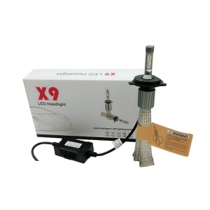 Лампы LED X9 H4 6000k (2шт)