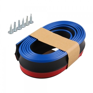 Резина для отделки бампера авто черная синий кант 2,5мх5.5см