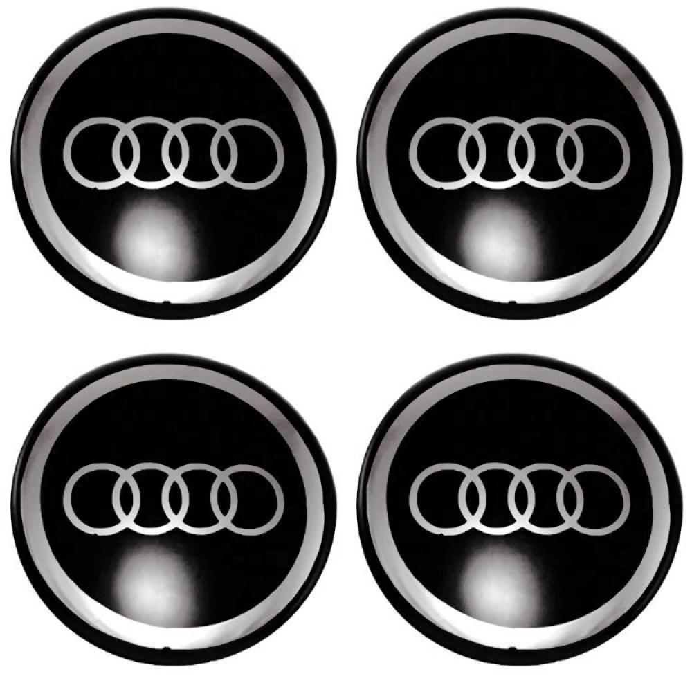 Декоративные наклейки на колпаки Audi 70мм 4шт.