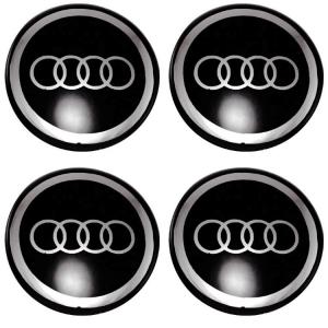Декоративные наклейки на колпаки Audi 80мм 4шт.
