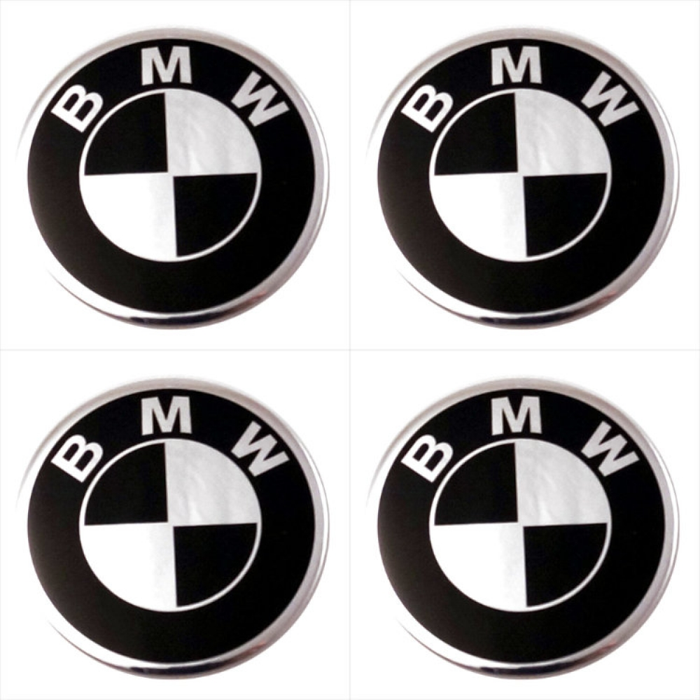 Декоративные наклейки на колпаки BMW 70мм 4шт.