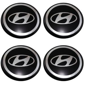 Декоративные наклейки на колпаки Hyundai 80мм 4шт.