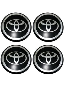 Декоративные наклейки на колпаки Toyota 60мм 4шт.