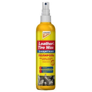 Полироль защитный (кож.,рез.,пласт.) Leather&Tire wax Protectant,300мл
