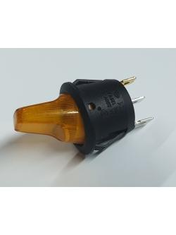 Переключатель на 2 положения, 3 контакта, с подсветкой на 12 вольт
