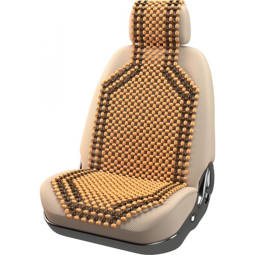 Накидка на сиденье массажная с подголовником (деревянная) 127х38см