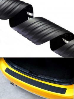 Резиновая накладка на задний бампер, черная, 104х8см