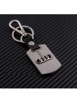 Брелок-карабин (металл-кожа) Audi 0394